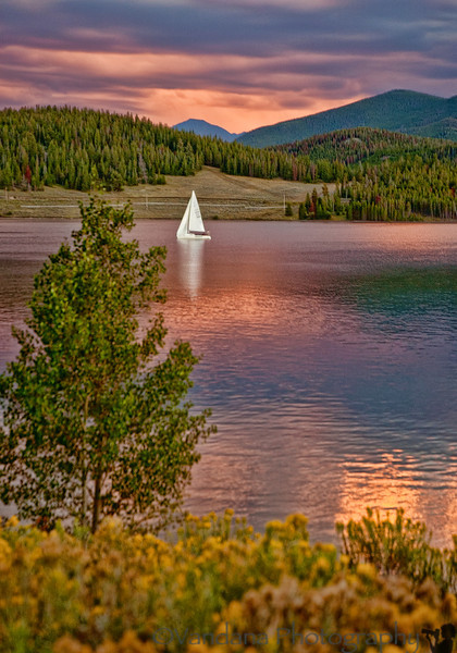 June 4, 2012 - Sunset on Lake Dillon, Colorado  blast from the past ! the photo was lying in RAW( NEF) form unprocessed and unseen all these years. Moving my pictures to google drive is letting me see my own pictures ! an old Nikon D70 shot - the camera is no longer made !