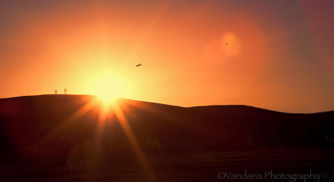 September 3, 2012 - Sunset over the hills