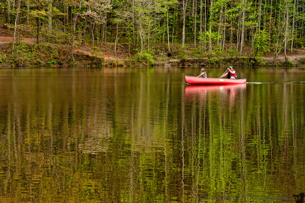 April 1, 2012 - Out boating, Crowders Mountain State Park<br /> <br /> no, I didn't go boating, just for a walk ;) beautiful weather these days ! Full-term 37 weeks now, not sleeping well, so posting early !