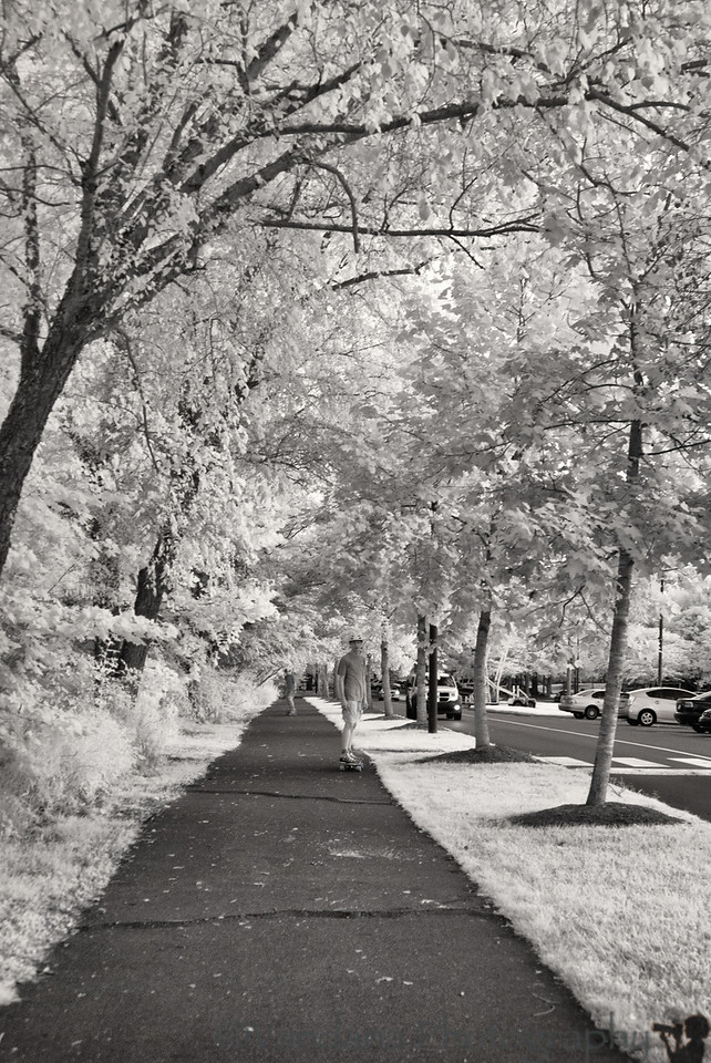 June 13, 2012 - Skate boarding in IR park<br /> <br /> shot in IR With my IR-converted Nikon D80. no major processing other than conversion from RAW to jpeg