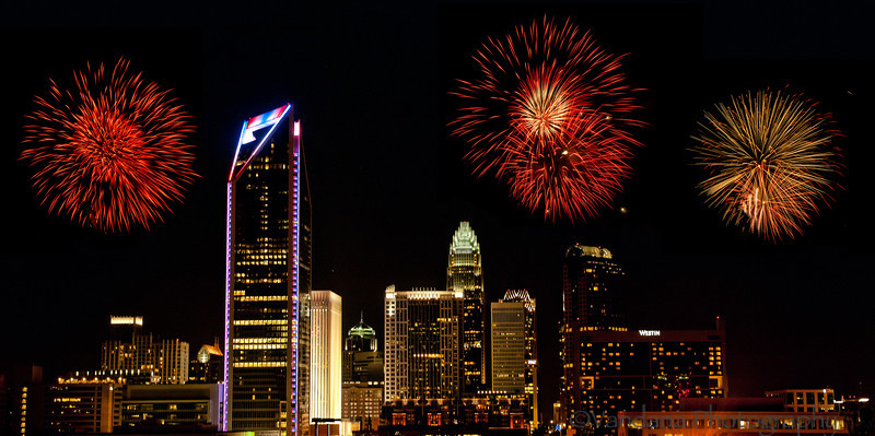 July 4, 2012 - Fireworks in Charlotte<br /> <br /> Happy 4th of July to everybody !