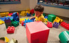 August 24, 2013 - Playing with blocks at the tots area in Pacific Science Center - he loved it !