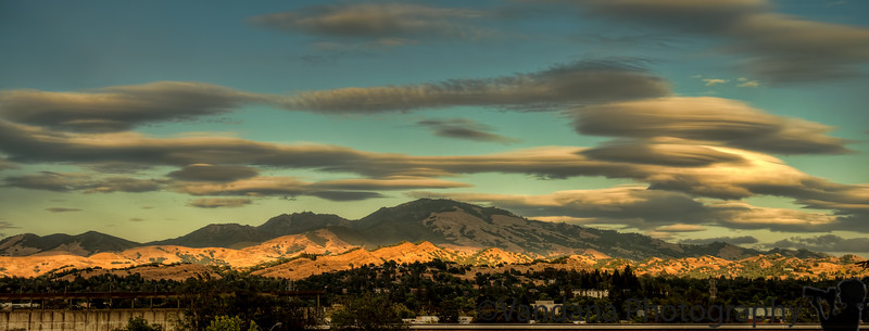 June 3, 2013 - Sunset over the Diablo Mountains, Walnut Creek