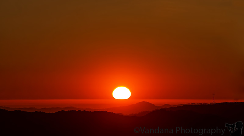 February 12, 2013 - Sunset over Diablo mountains