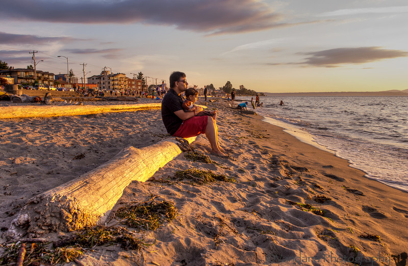 September 19, 2013 - Watching the sunset, on a beach in Seattle