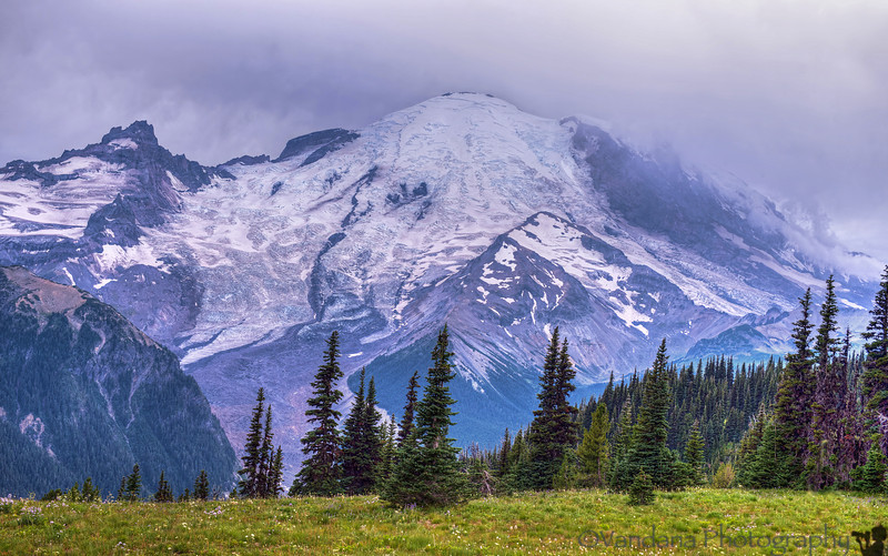 August 14, 2013 - At Mt. Rainier National Park, Sunrise point.
