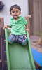 September 16, 2013 - Arjun at the backyard slide
