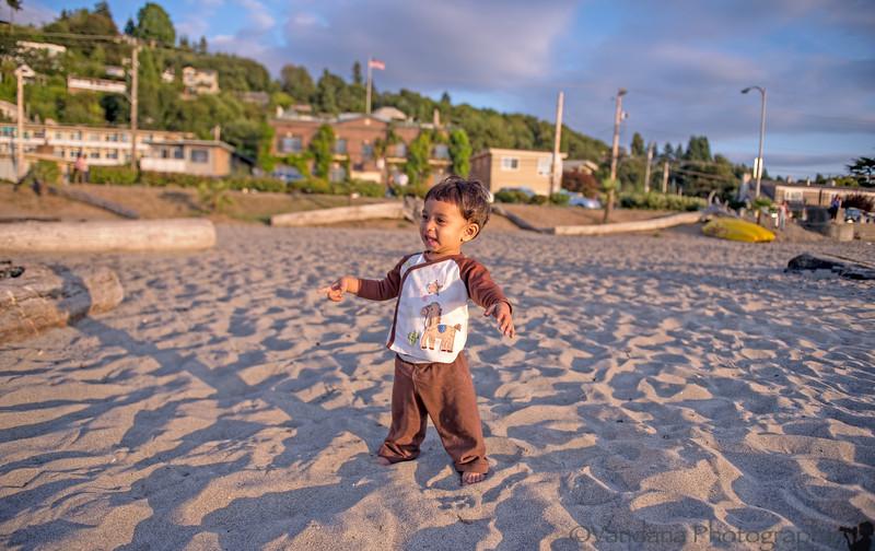 August 18, 2013 - Joy at the beach, Alki beach, Seattle