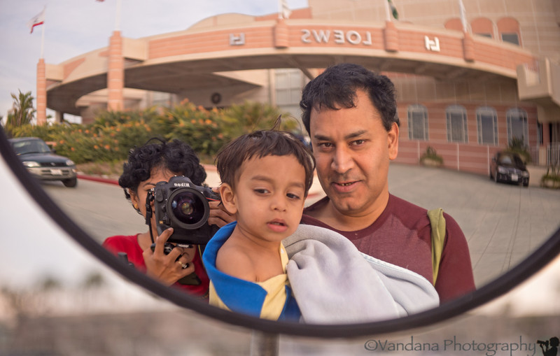 December 2, 2013 - Arjun, Dad and the Nikon Mom !