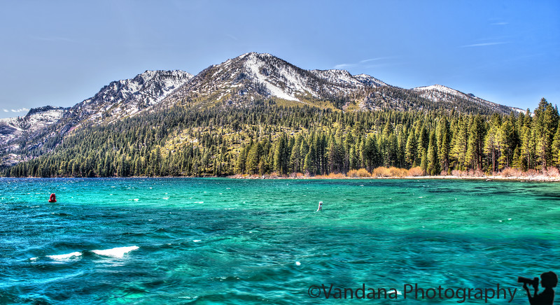 April 25, 2013 - The green waters of Emerald Bay, Lake Tahoe - taken from a Lake Tahoe cruise aboard MS Dixie.