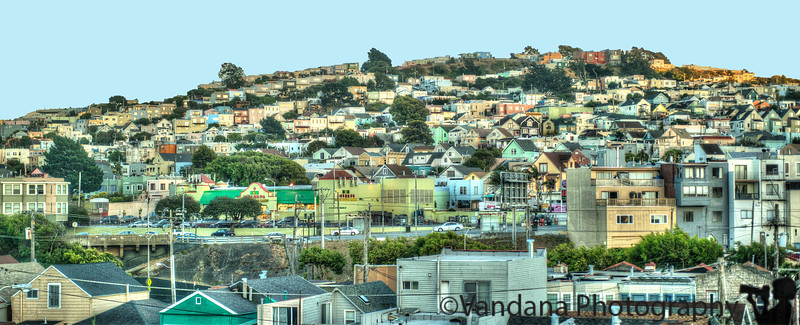 June 21, 2013 - the crowded hills of San Francisco