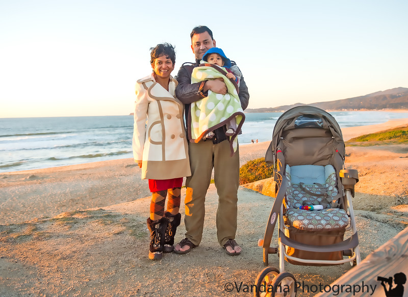 January 15, 2013 - at Half Moon Bay   ( camera on self-timer on the bench!)