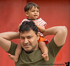 May 29, 2013 - On Daddy's shoulders