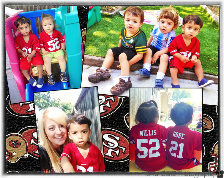 September 6, 2013 - Sports day at Arjun's daycare ! <br /> Arjun with his friends, and his favorite teacher Holly..