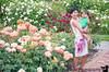 May 7, 2013 - Having fun among the flowers, Heather Farm Gardens, Walnut Creek