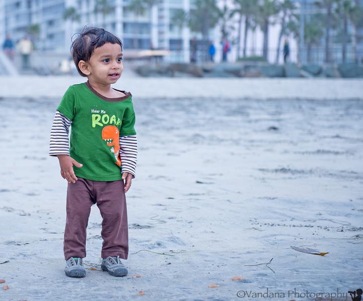 November 29, 2013 - Arjun at the beach, enjoying himself !