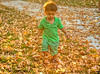 October 24, 2013 - Playing with fall leaves