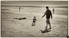 December 6, 2013 - Daddy and A at the beach