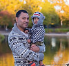 September 22, 2013 - It's fall !! K and Arjun at Heather Farm Park