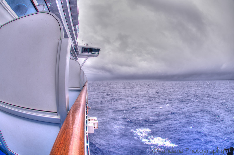 May 1, 2014 - Day at sea. view from our balcony