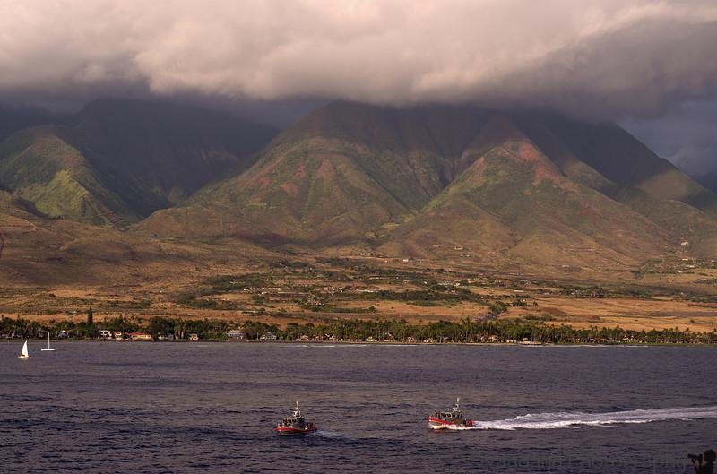 May 17, 2014 - Sailing away from Maui, HI