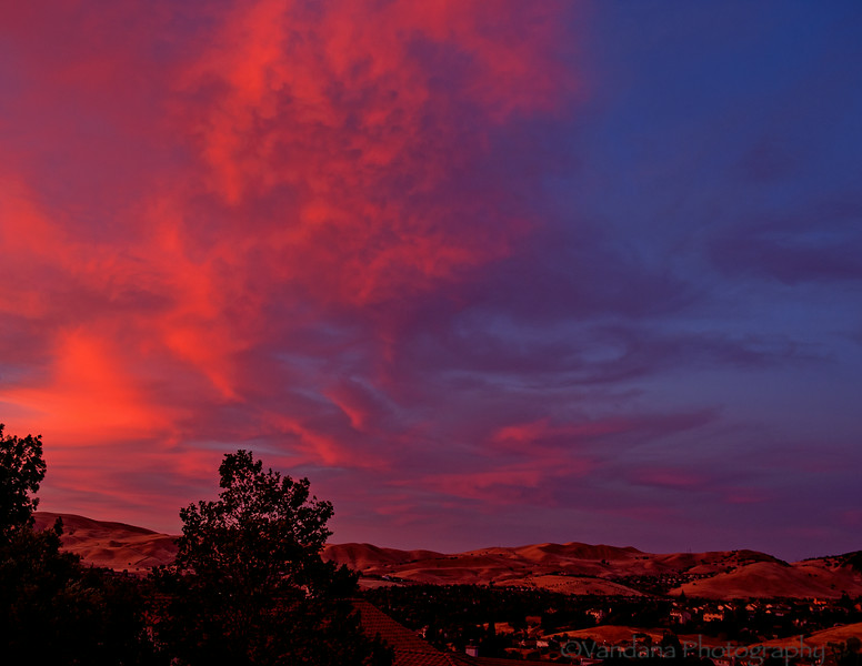 July 2, 2014 - a beautiful sunset from our frontyard !