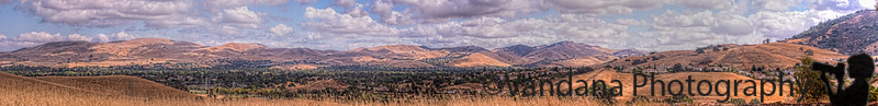 September 27, 2014 - another panorama of the Diablo mountains. <br /> Weather is getting so beautiful these days with all those popcorn clouds all around :)