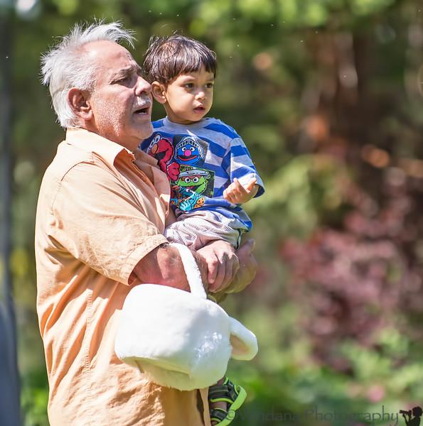 April 20, 2014 - Easter Egg hunt with grandpa<br /> <br /> Happy Easter !