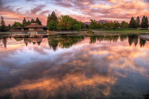 August 11, 2014 - Sunset at Heather Farms Park, Walnut Creek