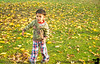 December 3, 2014 - Playing with fall leaves