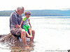 July 17, 2014 - Playing in the lake with grandpa