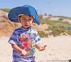 July 1, 2014 - Arjun and Elmo at the beach