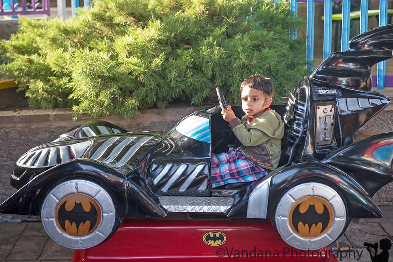 December 4, 2014 - On the batmobile ( scared ?!)
