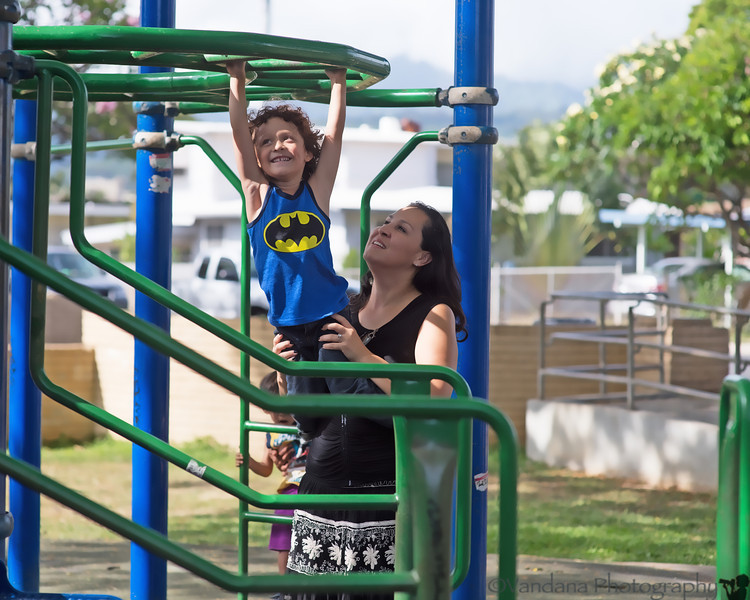 May 19, 2014 - Teresa and her son at the playground, Honululu, HI<br /> It was wonderful seeing Teresa after 10 long years !