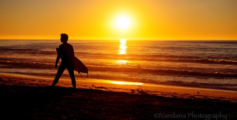 January 4, 2014 - Surfer silhoeutte