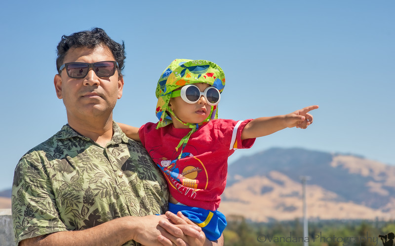 August 23, 2014 - Out for a BART train ride in the summer heat