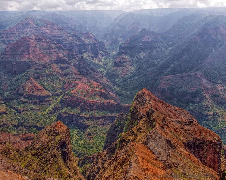 May 6, 2014 - Waimea Canyon, Kauai<br /> <br /> loved Kauai, one of our favorite islands, misty, mountainous and great weather