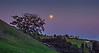 March 15, 2014 - Moon rise over Mt.Diablo