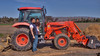 February 19, 2014 - Arjun and Dad ride a tractor