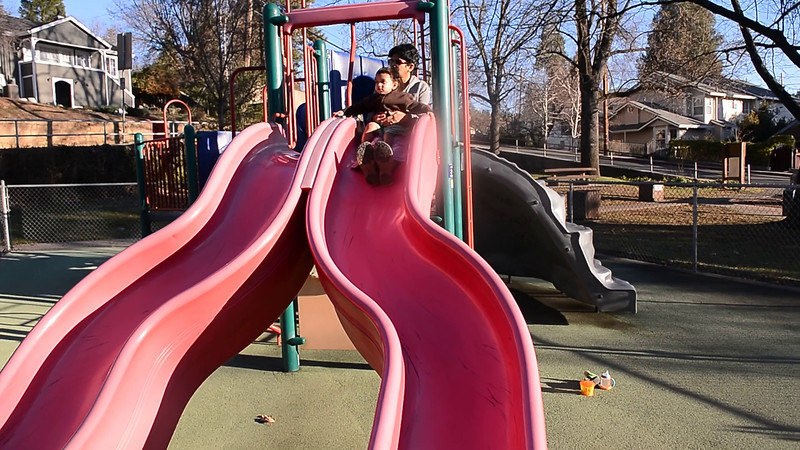 February 6, 2014 - On the swing with Arjun