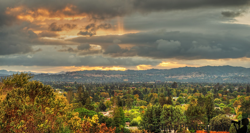 October 13, 2014 - Sunset over the valley