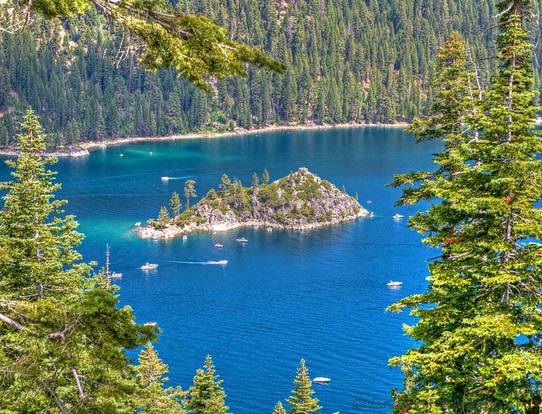 July 10, 2014 - Fannette Island, the only island in Lake Tahoe