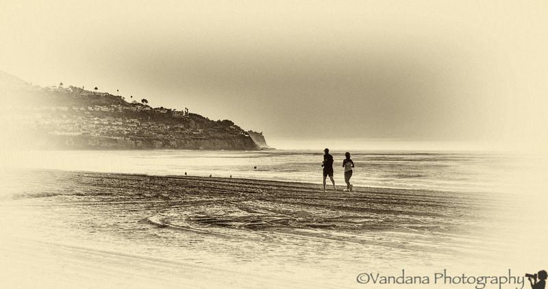 January 8, 2013 - running on the beach