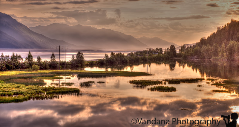 August 19, 2015 - Sunset in Turnagain Arm, Anchorage, AK - such a beautiful place