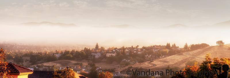 October 22, 2015 - a lovely, misty sunrise at home