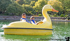 May 24, 2015 - Paddling in a duck boat at Gilroy Gardens