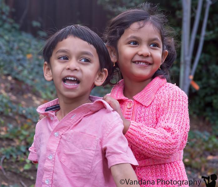 December 1, 2015 - Lovely smiles from the happy kids, Arjun and Shreya !