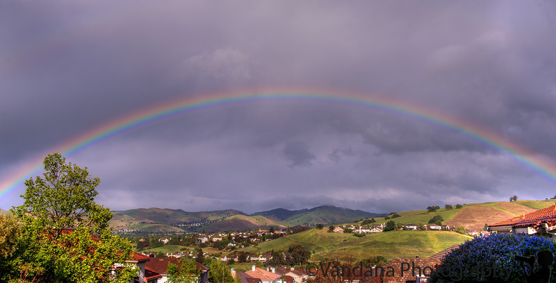 April 8, 2015 - a lovely rainbow at home