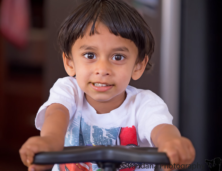 June 10, 2015 - Arjun riding in the plasma car ( always !!)
