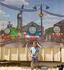 July 28, 2015 - Arjun happy with his Sodor friends
